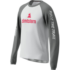 Zimtstern PureFlowz Camiseta Manga Larga Hombre, glacier grey/gun metal/cyber red